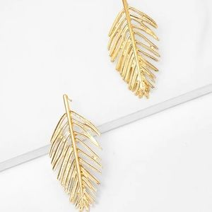 3/$35 Gold Leaf Drop Earrings